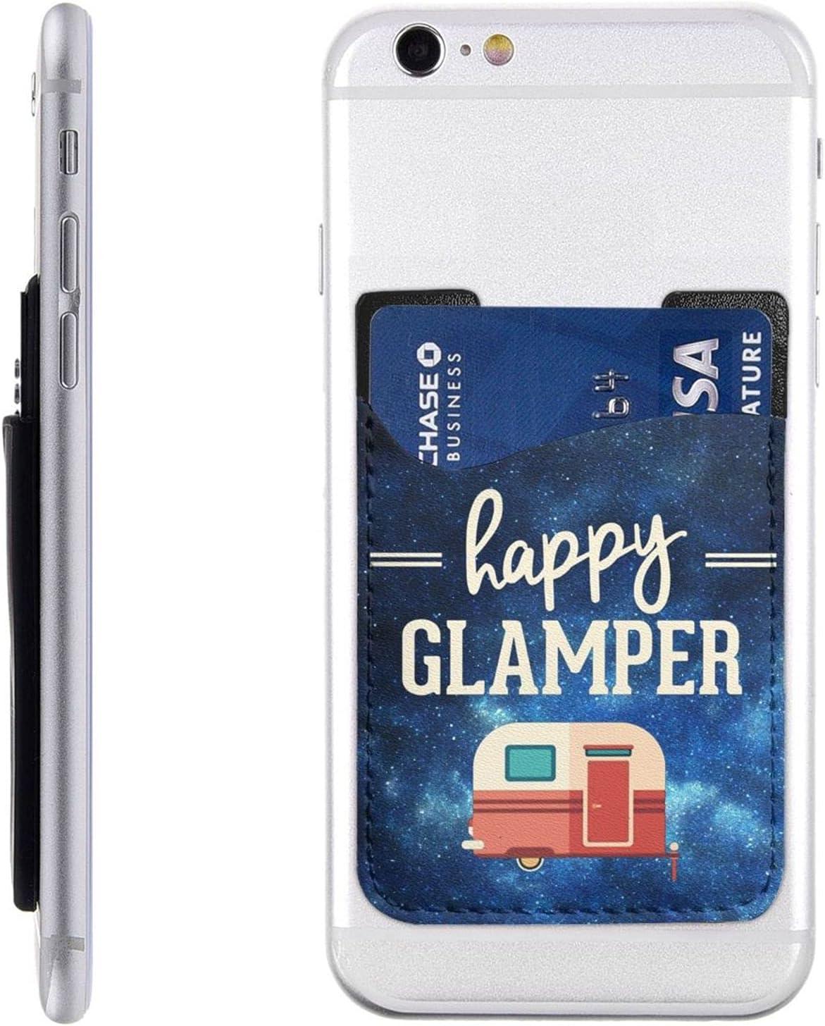 Happy Camper Blue Starry Phone Card Holder Ultra Louisville-Jefferson County Mall Mob Pocket service Slim