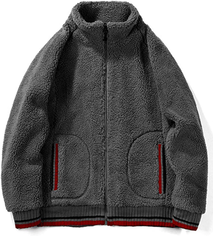 Haellun Mens Full Zip Fleece Jackets Soft Warm Winter Lightweight Fleece Coat