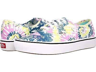 Vans ComfyCush Authentic ((Tie-Dye) Orchid/True White) Athletic Shoes