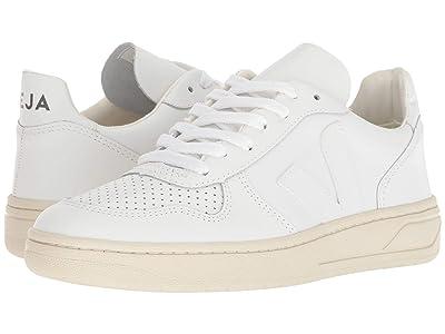VEJA V-10 (Extra-White Leather) Athletic Shoes