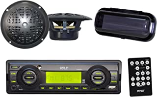 3.5mm Black USB Flash /& SD Card Readers MP3 Input Pyle Bluetooth Stereo Radio Headunit Receiver Remote Control Aux CD Player Single DIN PLCD5MRBTS Wireless Streaming /& Call Answering