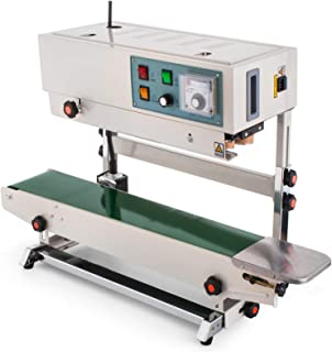 Happybuy Continuous Band Sealer FR-900 Vertical Automatic Continuous Sealing Machine with Digital Temperature Control Vertical Band Sealer for Bag Film