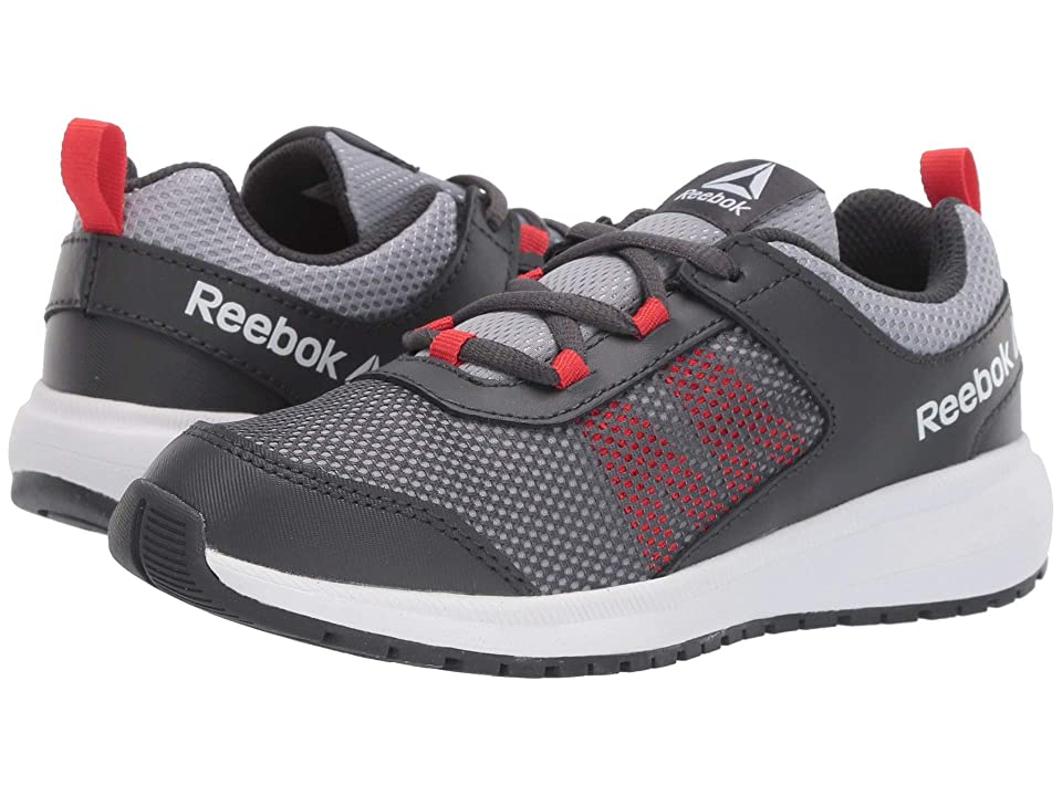 Reebok Kids Road Supreme (Little Kid/Big Kid) (Grey/Shadow/Red/White) Boys Shoes
