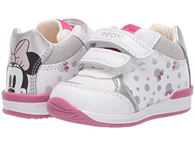Geox Kids Rishon 23 Minnie Mouse (Infant/Toddler) (White/Silver) Girl