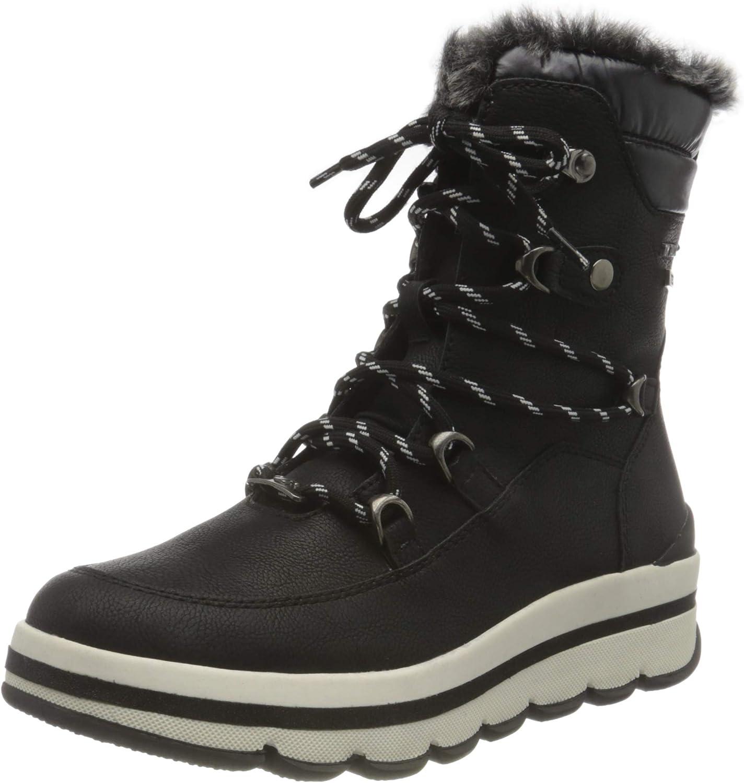 TOM TAILOR Women's 9090404 Snow Boot, Black, 6.5 us