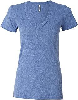 Canvas Triblend Short-Sleeve Deep V-Neck T-Shirt (8435)