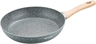 Cate-Maker 11 inches Frying Pan Stone Earth/Granite Non-Stick Coating (100% PFOA and APEO Free) Dishwasher Safe with Soft Touch Bakelite Handle Bacon Pancakes Skillets