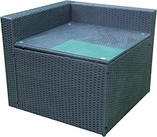 mcombo Outdoor Rattan Wicker Couch Sofa Patio Furniture Chair Garden Sectional Set (Corner Table) 6089