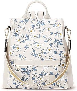 CLUCI Rucksack Damen Leder Mode Diebstahlsicherer Reiserucksack Schultertasche für Frauen 2 in 1