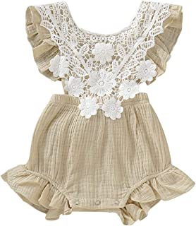 Fashion Newborn Baby Girls Cotton Lace Romper Jumpsuit Outfits Sunsuit Romper