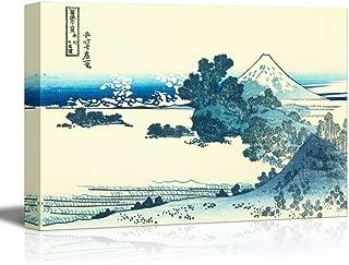 wall26 - Thirty-six Views of Mt. Fuji: Shichiri Beach in Sagami Province by Katsushika Hokusai - Canvas Print Wall Art Famous Painting Reproduction - 16