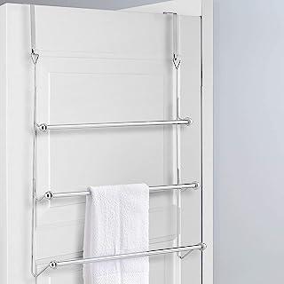 73x44 CM-Towel Bar Bath Towel Holder Bathroom Shelf Door Towel Holder Black