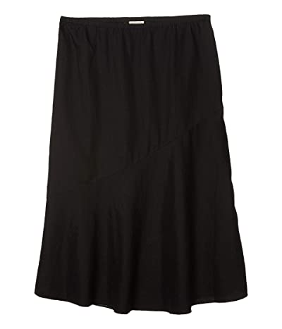 Eileen Fisher Flared Skirt with Asymmetrical Hem (Black) Women