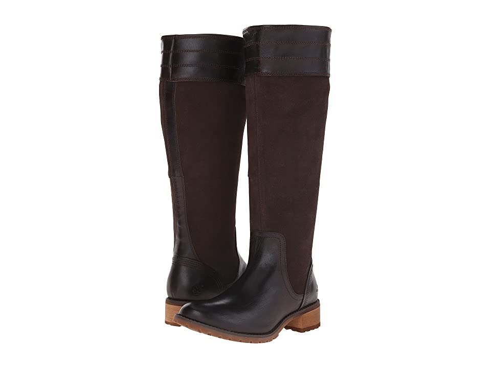 Timberland Bethel Heights All Fit Tall Boot (Dark Brown Euroveg/Suede) Women