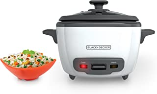 Black+Decker RC514 14-Cup Cooked/7-Cup Uncooked Rice Cooker and Food Steamer, White