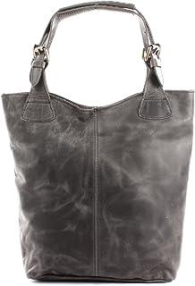 LECONI Henkeltasche Echt-Leder Vintage-Look Damentasche Handtasche für Damen Shopper für Freizeit, Büro oder Shopping Beuteltasche Frauen Ledertasche 34x35x10cm LE0033