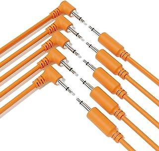"""ExcelValley - 5-Pack Cables de Conexión Mono Modulares Híbridos TS 3,5mm 1/8""""Eurorack Sintetizador Sintetizador [Naranja -..."""