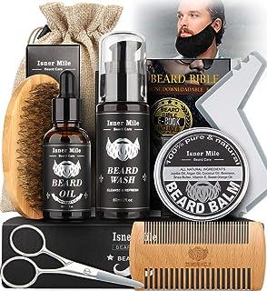 Kit Barba Cuidado Para Hombres, Set Herramientas de Aseo y R