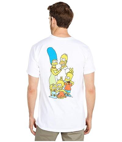 Vans Vans X The Simpsons Family T-Shirt (Whte) Men