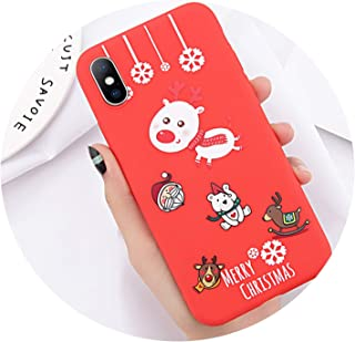 Phone Case for iPhone 6 6s 7 8 Plus X XR XS Max Cute Cartoon Letter Deer Smiley Face Soft TPU for iPhone 5 5S SE Cover,T4,for iPhone 6s Plus