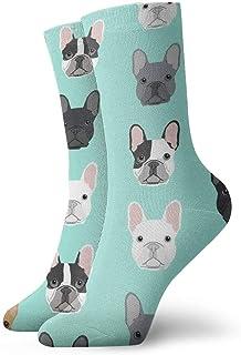 N\A, Niños Niñas Loco Divertido Bulldog Francés Dulce Perro Cachorro Cachorros Calcetines de perro Calcetines de vestir novedosos lindos