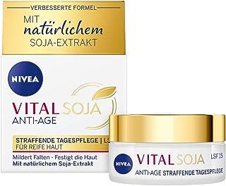 Crema de día Nivea Vital Soja con protección solar 15 (50 ml) fórmula reafirmante con extracto de soja natural cuidado h...