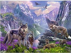 Pintura Pinturas Paisaje nevado de Pintura al óleo para Adultosniños Pintura -16x20 inch (40x50cm)Sin marco