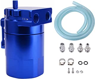 ESPEEDER Universal Aluminum Car Truck Engine Oil Catch Can Tank Polish Baffled Reservoir Blue 300ml