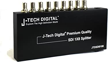 J-Tech Digital Premium Quality SDI Splitter 1x8 Supports SD-SDI, HD-SDI, 3G-SDI up to 1320 Ft (1 Input and 8 outputs)