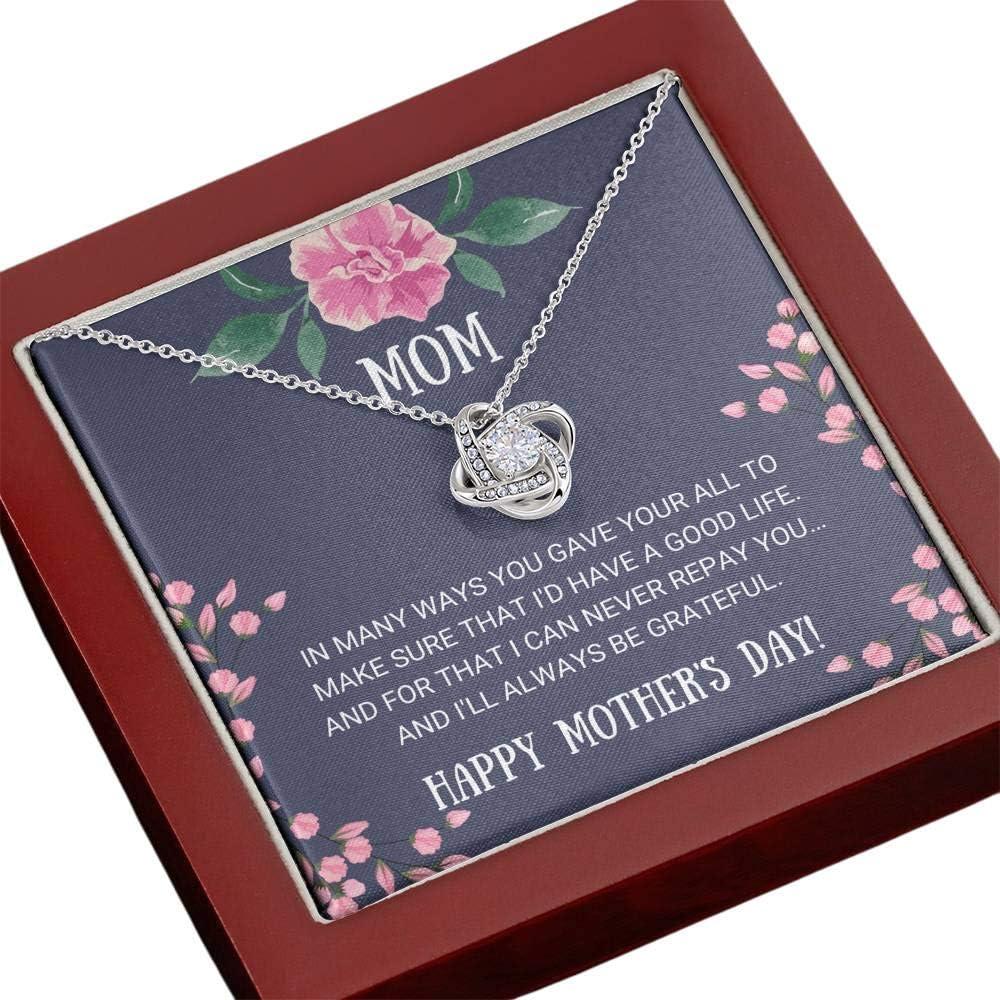 絶品 Tek Weh Mom - Always Be Gift Knot 人気ブランド多数対象 Love Necklace Grateful for