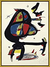Berkin Arts Framed Joan Miro Giclee Canvas Print Paintings Poster Reproduction (Cap I Cua)