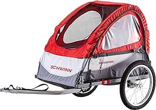 Schwinn Joyrider, Echo, and Trailblazer Child Bike Trailer, Single and Double Baby Carrier, Canopy, 16-20-inch Wheels