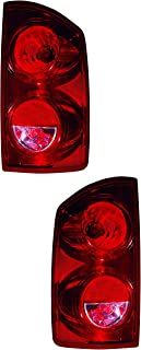 Outer Tail Light Replacement For Dodge Ram R1500 Mega Cab Model Driver Left and Passenger Right Pair Set 2007 2008 Taillamp Assembly