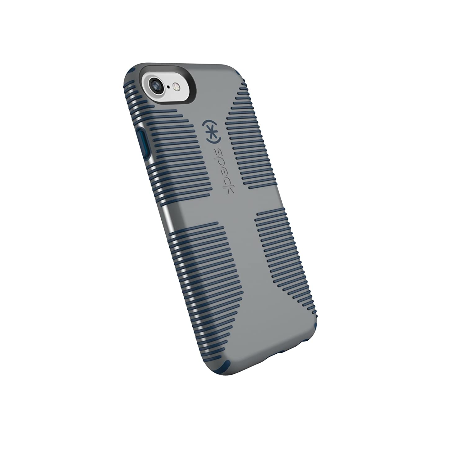 Speck Products CandyShell Grip Cell Phone Case for iPhone 8/7/6S/6 - Gravel Grey/DEEP Sea Blue