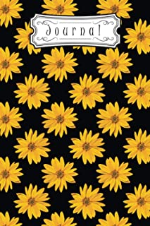 Journal: Yellow Sunflower Lined Notebook   Composition Book For Women & Girls   Daily Inspirations   Soft Cover   100 page...