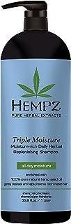 Hempz Triple Moisture-Rich Daily Herbal Replenishing Shampoo, Pearl Blue, Enchanted Grapefruit, 33.8 oz. - Hair Thickening...