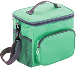 Insulated Lunch Bag Cooler Bag for Kids,Women and Work, Stain Resistant Oxford Fabric,Adjustable Detachable Shoulder Strap Pad,Bento Box Bag Travel Lunch Bags (Green)