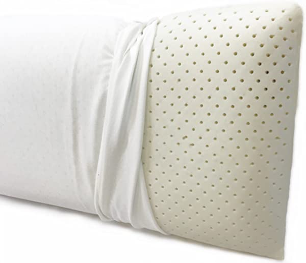 OrganicTextiles Talalay Latex Pillow Extra Soft With Organic Pillow Cover For Extended Durability King