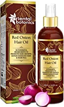 Oriental Botanics Red Onion Hair Oil, With 30 Oils & Extracts, Argan Oil, Castor, Bhringraj, Almond Oil (No Mineral Oil), 200 ml