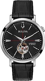 Bulova - Reloj Analógico para Hombre de Automático con Correa en Cuero 96A201