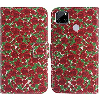 TienJueShi Rosa Flower Fashion Stand TPU Silicone Book Stand Flip PU Leather Protector Phone Case For Oppo A15s 6.52 inch ...