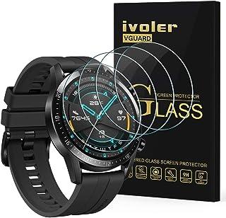 ivoler 4-pack skärmskydd för Huawei Watch GT2/Huawei Watch GT 2 46 mm, härdad glasfilm för Huawei Watch GT2 46 mm [9H hård...