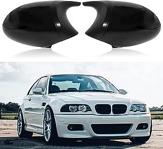 1 Pair of Side Mirror Cover Cap E90 Exterior Rear View Mirror Rearview for BMW E90 E91 325i 325xi 328i 330i E92 E93 2005-2008 (Glossy Black)