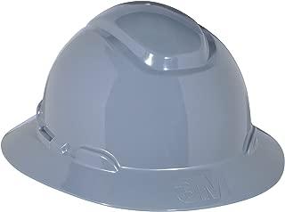 3M Full Brim Hard Hat H-808R, 4-Point Ratchet Suspension, Gray