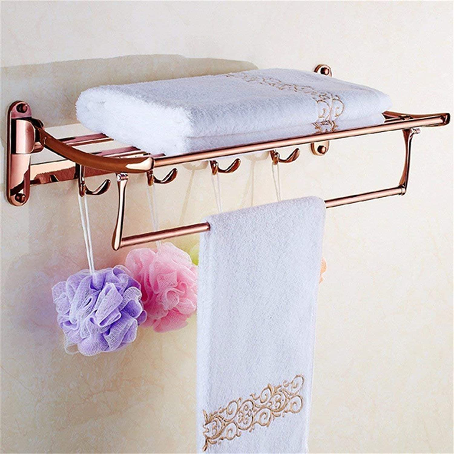 The Accessories for Bathroom in Copper-gold-Pink-Folding Door Dry-Towels Towels,B