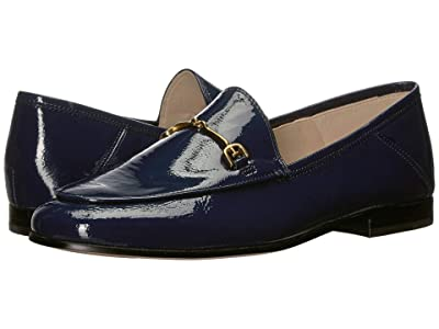 Sam Edelman Loraine Loafer (Baltic Navy Crinkle Patent Leather) Women