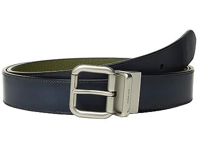 COACH 32 mm Jeans Buckle Cts/Reversible Burnished Leather Belt (Multi) Men
