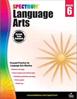 Carson Dellosa – Spectrum Language Arts, Focused Practice for Language Arts Mastery for 6th Grade, 184 Pages, Ages 11–12 with Answer Key