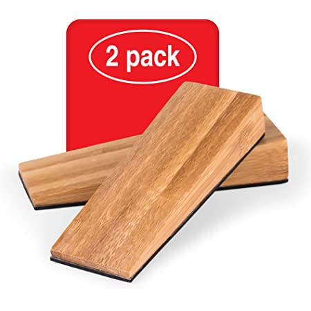 cuneo in legno di bamb/ù naturale Fermaporta in legno di bamb/ù naturale LouMaxx fermaporta per pavimento