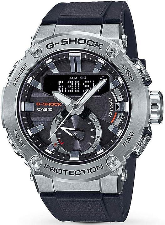 G-shock by casio men`s g-steel gstb200-1a analog-digital watch silver